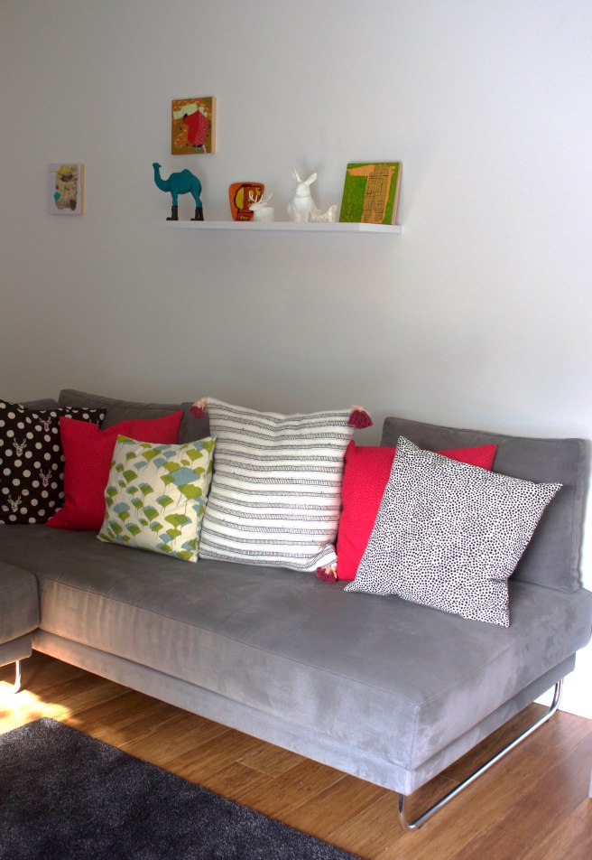 Shelf and Sofa